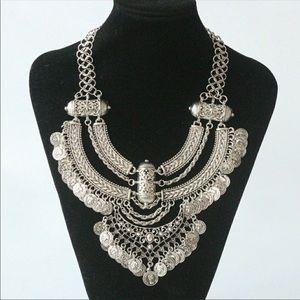 Gypsy coin boho necklace